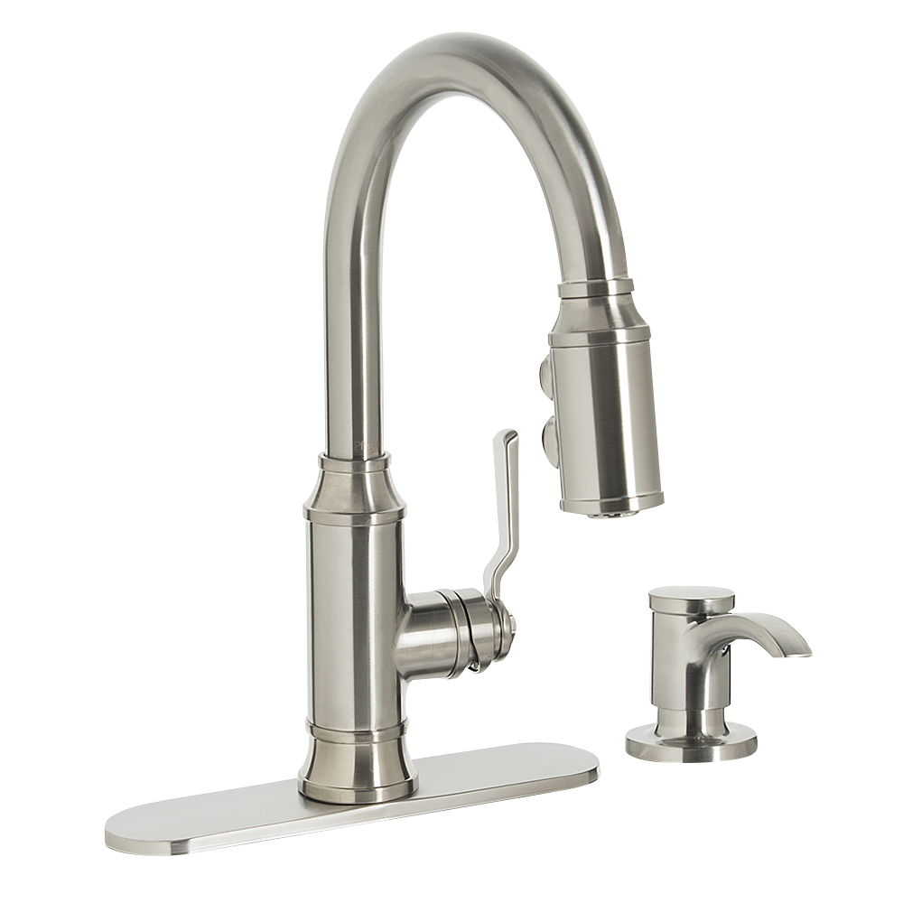 Breckenridge Retractable Kitchen Faucet Kitchen Faucets Canac within measurements 1000 X 1000