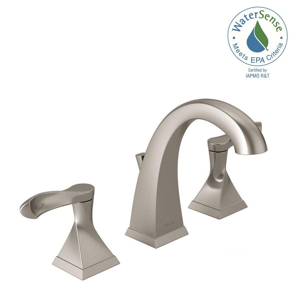 8 Inch Brushed Nickel Bathroom Faucet • Faucet Ideas Site