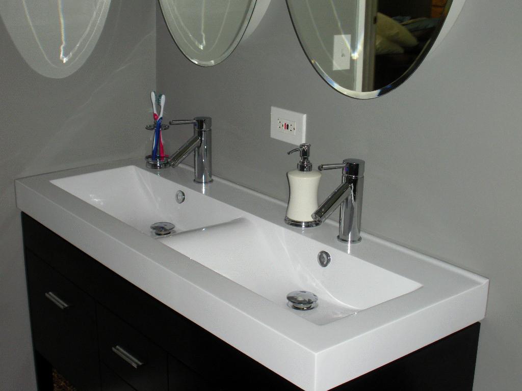 Engaging Double Trough Bathroom Sink 10 Koehler Brockway Tile Bathe Inside  Proportions 1024 X 768