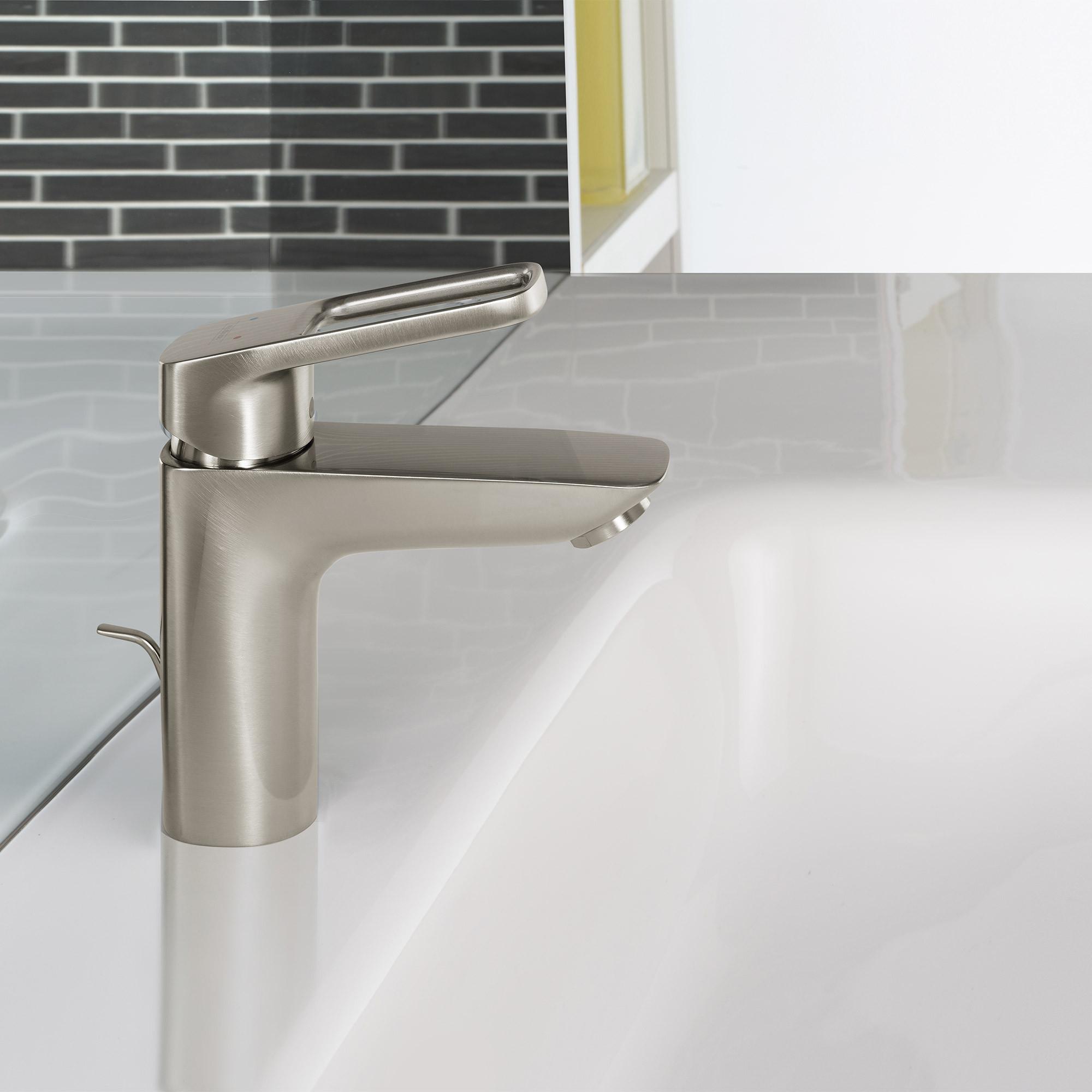 Hansgrohe Logis Loop Single Hole Bathroom Faucet Brushed Nickel with regard to measurements 2000 X 2000