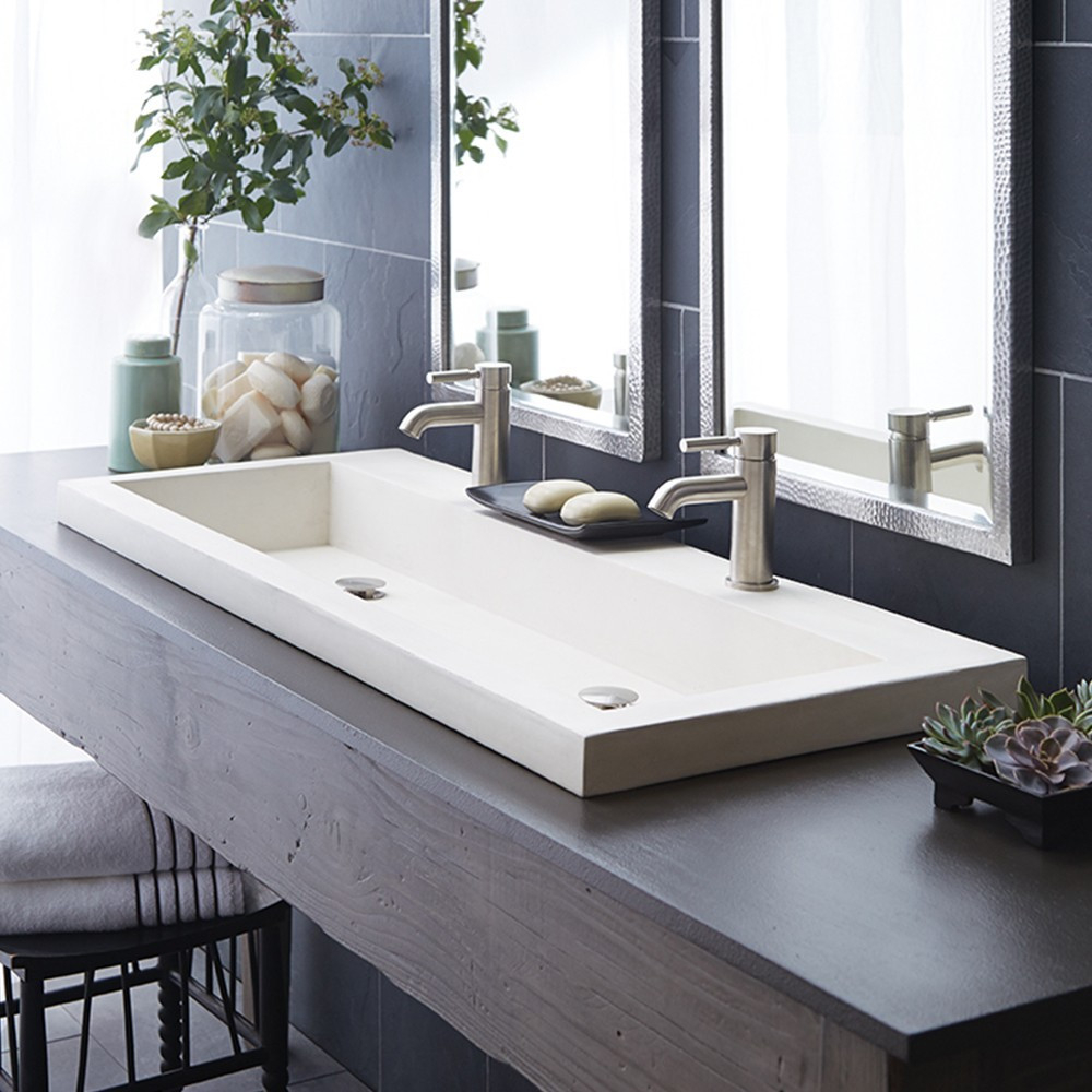 Trough 4819 Double Basin Nativestone Bathroom Sink Native Trails Regarding Proportions 1000 X