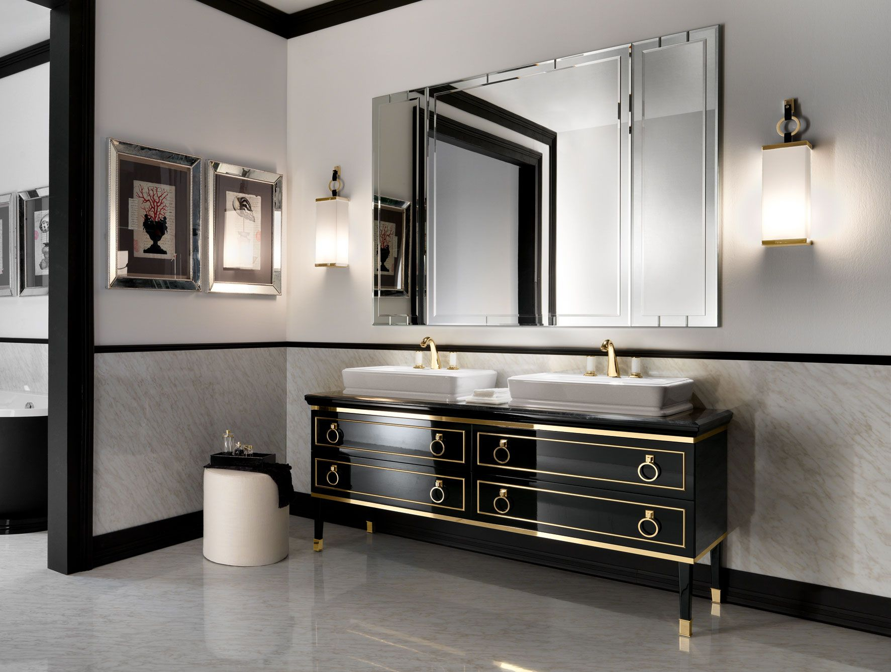 12 Ideas For Designing An Art Deco Bathroom Art Deco Bathroom pertaining to sizing 1773 X 1338