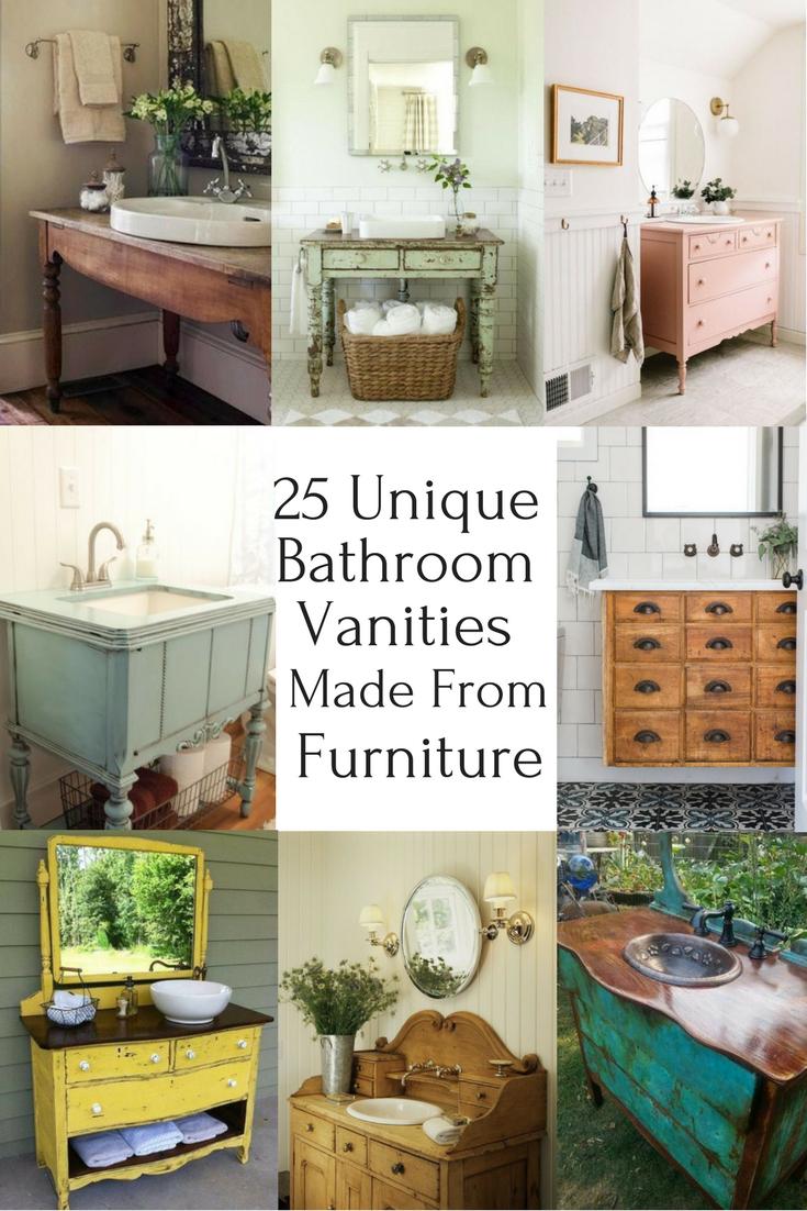 25 Unique Bathroom Vanities Made From Furniture Life On Kaydeross regarding measurements 735 X 1102