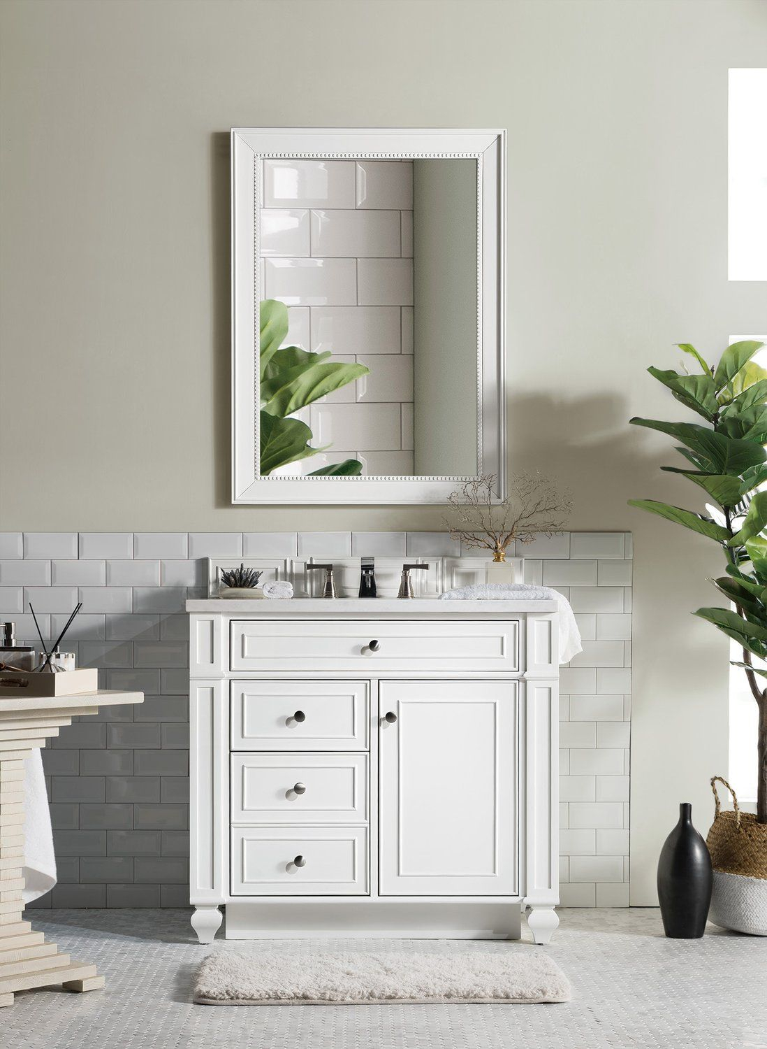 36 Bristol Cottage White Single Bathroom Vanity In 2019 Single in measurements 1098 X 1500