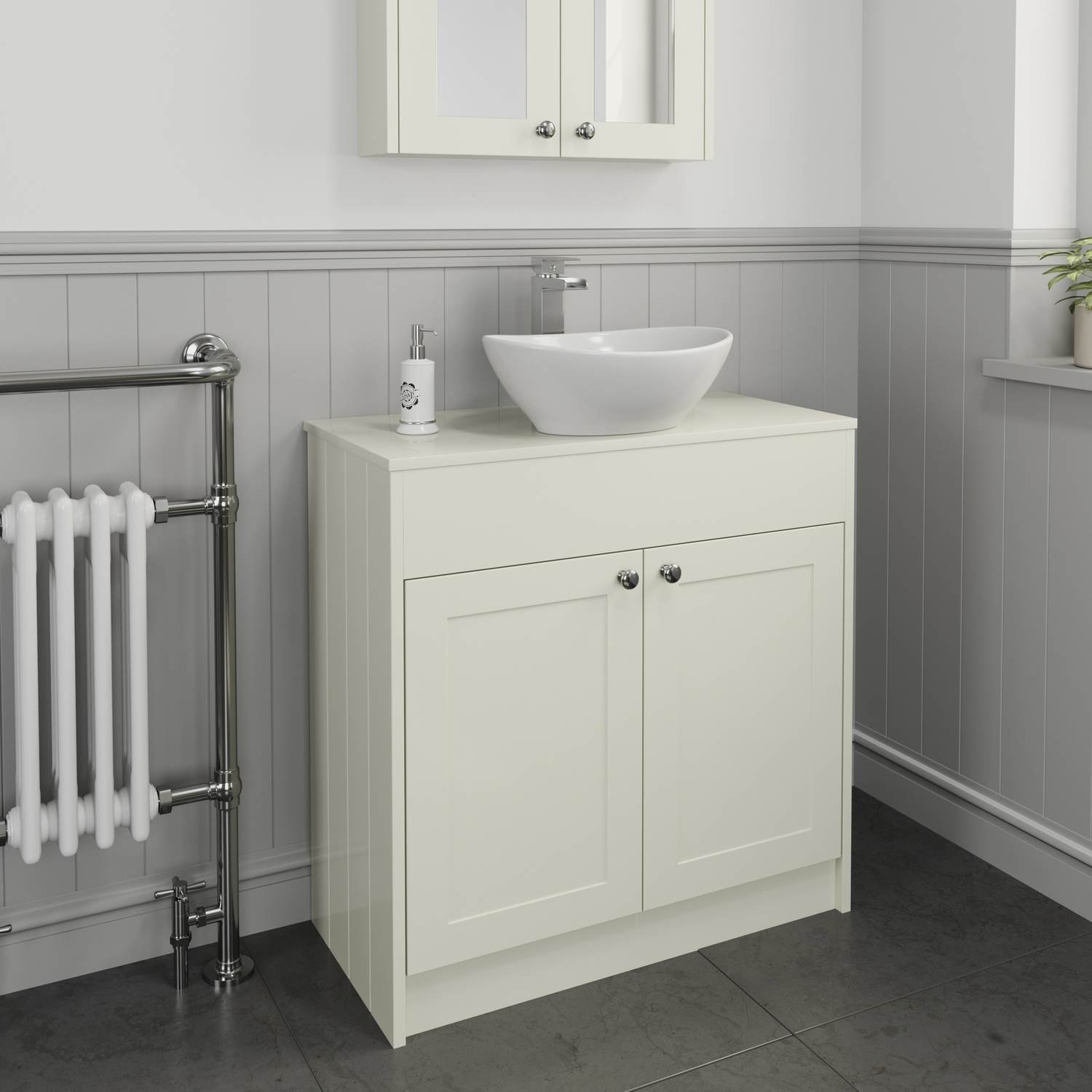 800 Cream Traditional Vanity Unit Countertop Oval Basin Sink inside proportions 1500 X 1500
