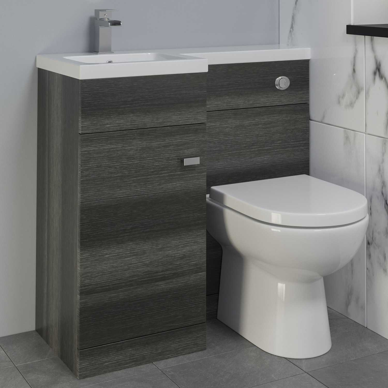 900mm Bathroom Vanity Unit Basin Toilet Combined Furniture Left regarding size 1500 X 1500