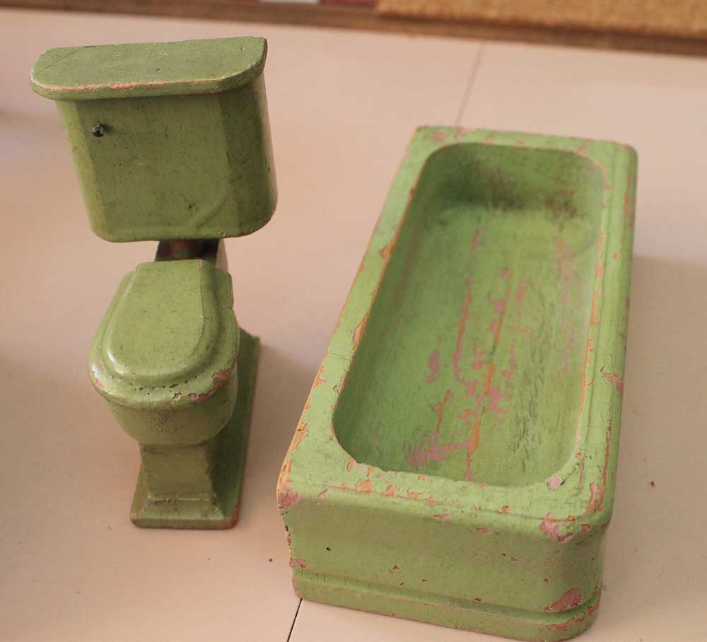 A Vintage Pink Bathroom For The Dollhouse Including World Of Tile for measurements 1000 X 908
