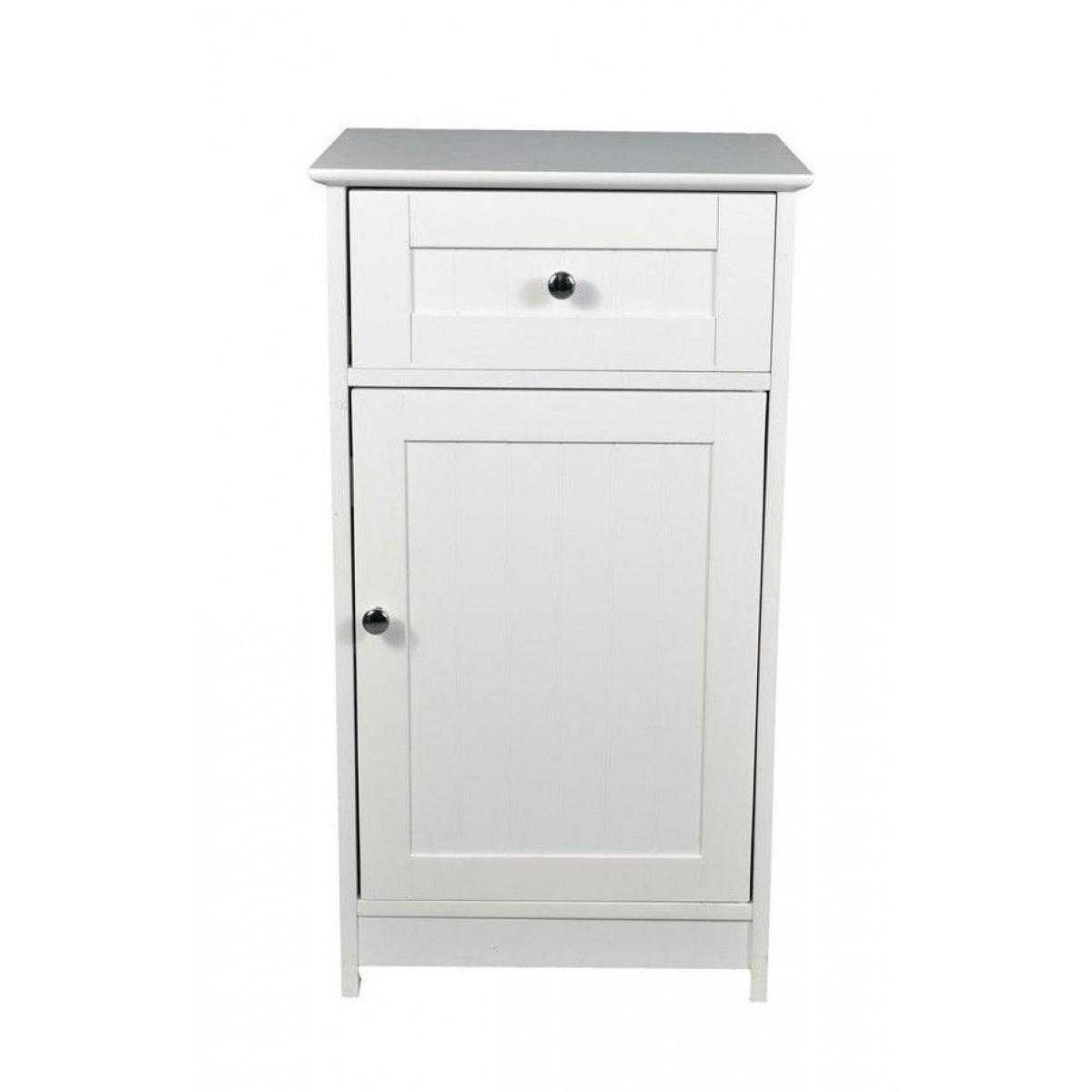 Alaska White 1 Door 1 Drawer Bathroom Floor Storage Cabinet Home Done within measurements 1200 X 1200