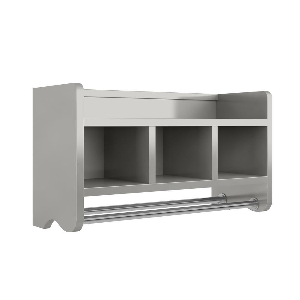 Alaterre Furniture 25 In W Bath Storage Shelf With Towel Rod In for sizing 1000 X 1000