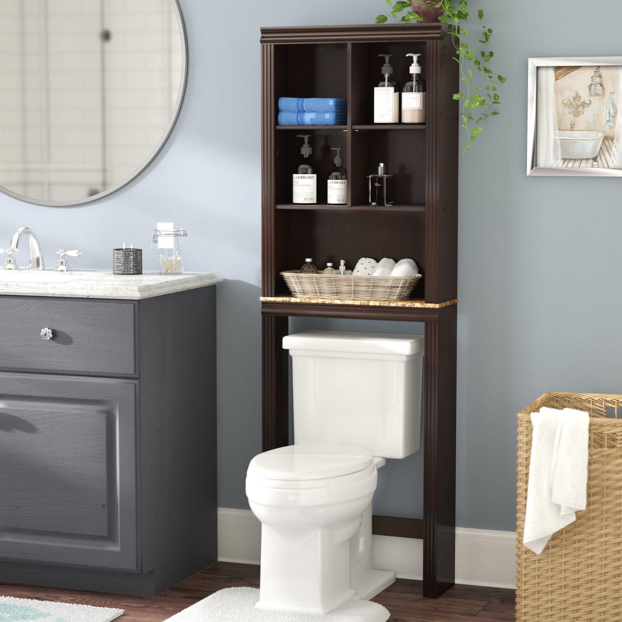 Andover Mills Milledgeville 233 W X 6858 H Over The Toilet with proportions 2000 X 2000