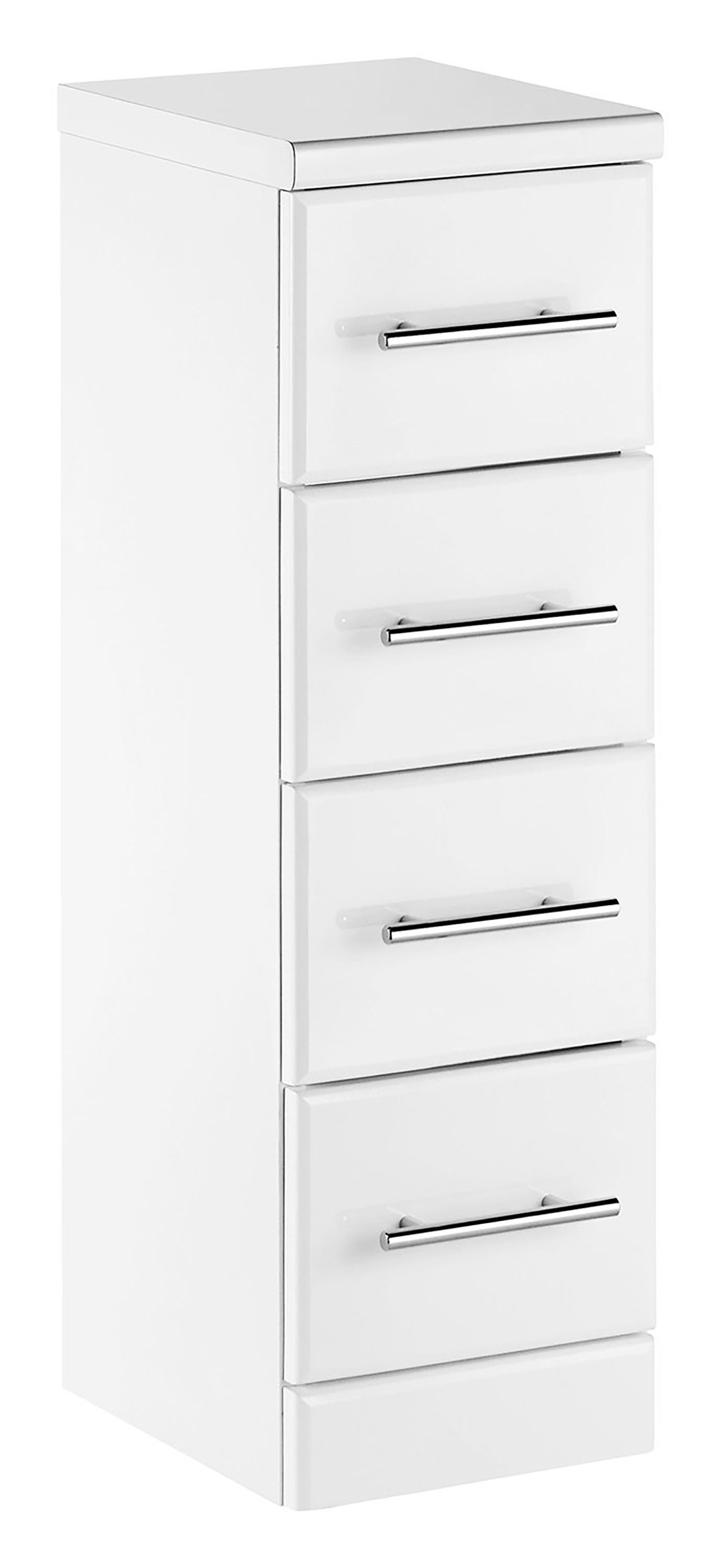 Aquachic White Gloss 4 Drawer Unit Bathroom Furniture Cabinets within proportions 1500 X 3261