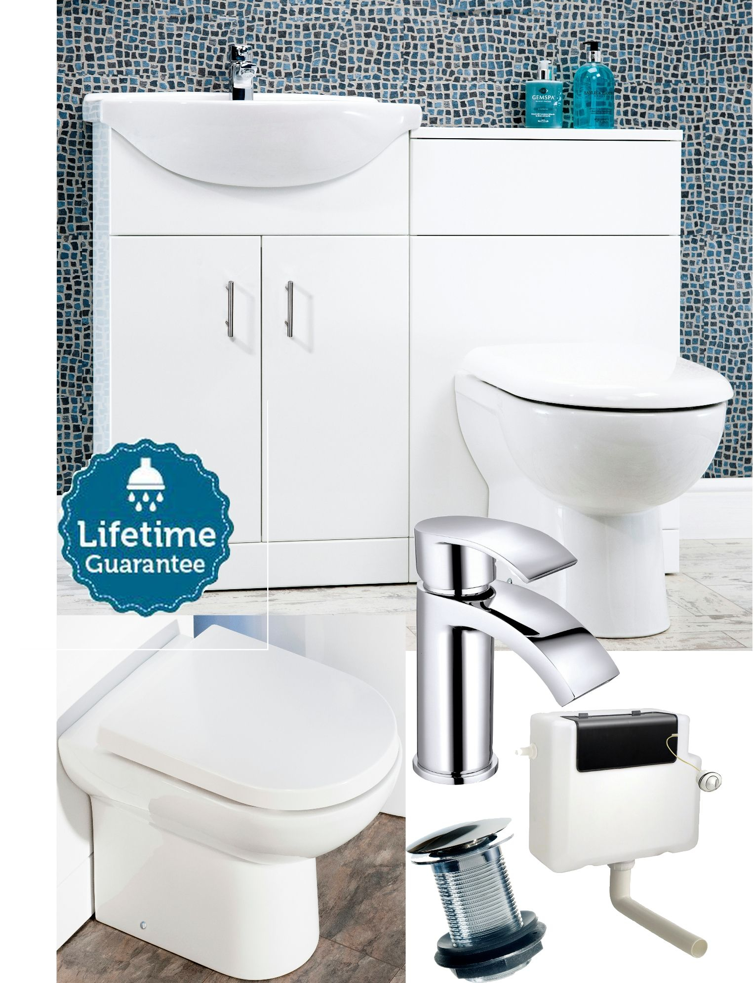 Bathroom Furniture Suite Combination Vanity Unit Basin Cabinet With in size 1527 X 1992