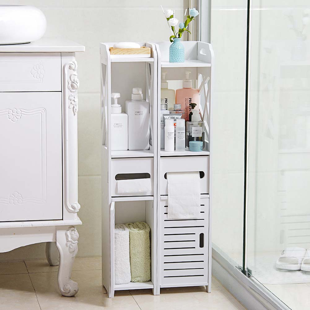 Bathroom Storage Cupboard Unit Cabinet Shelves Basin White Furniture in proportions 1001 X 1001