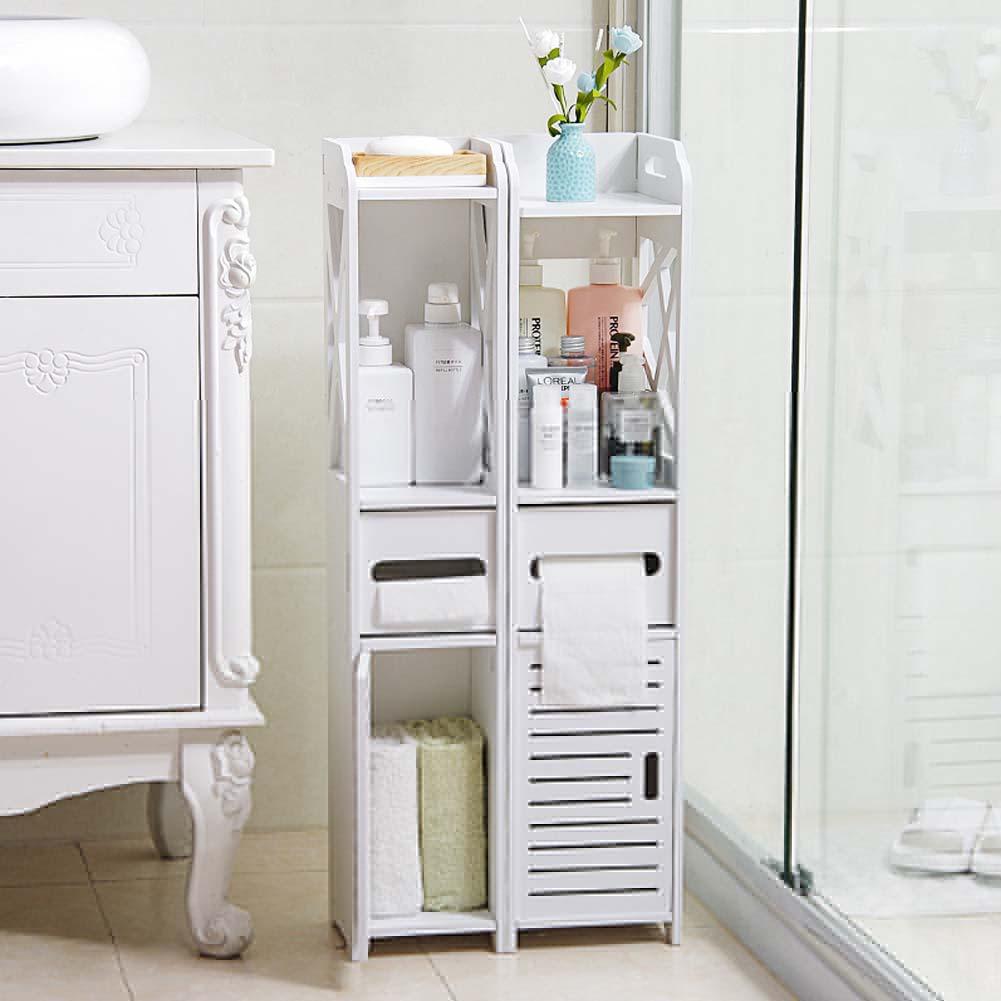 Bathroom Storage Cupboard Unit Cabinet Shelves Basin White Furniture within size 1001 X 1001
