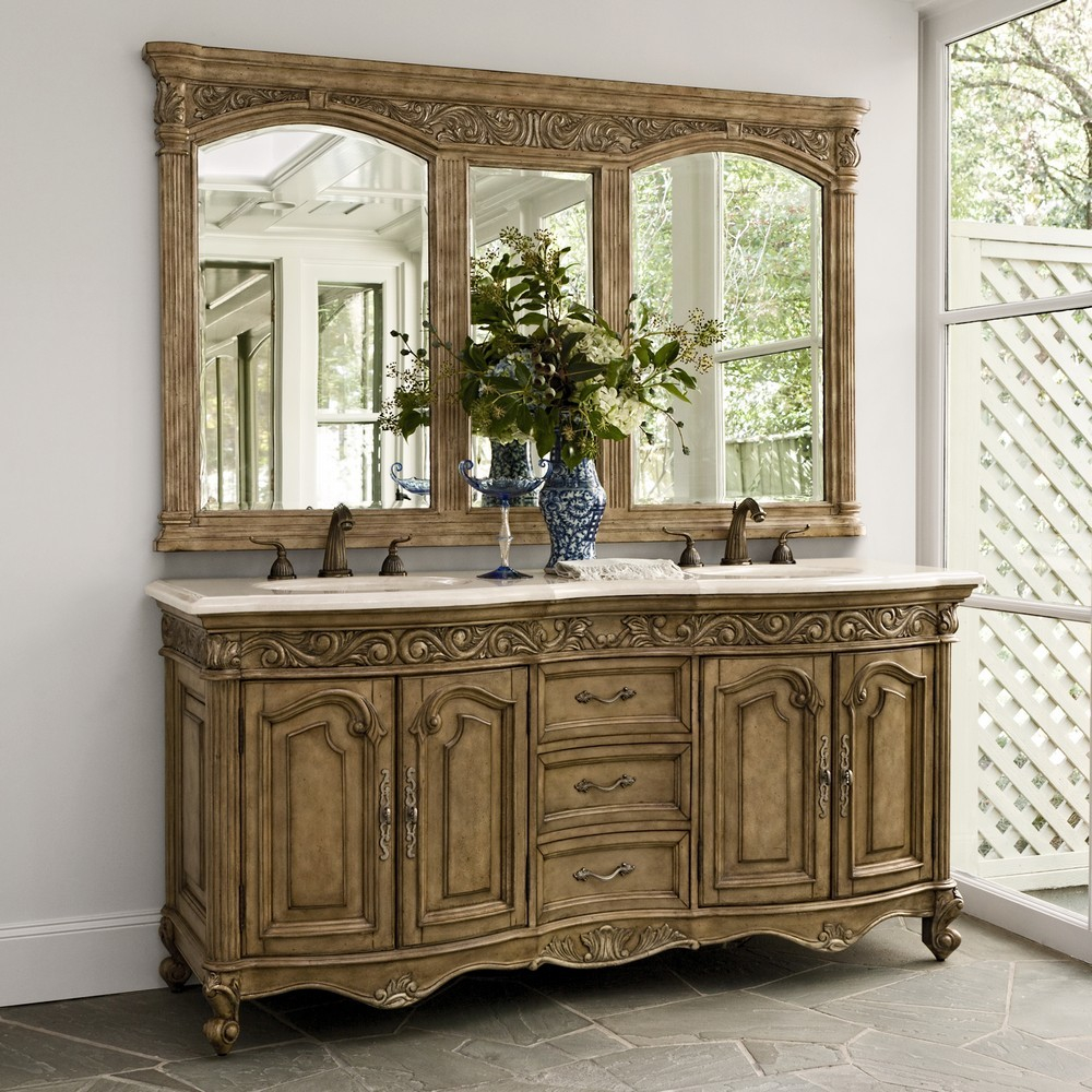 Bathroom Vanity Chest French Country Bathroom Double Sink Vanity throughout dimensions 1000 X 1000