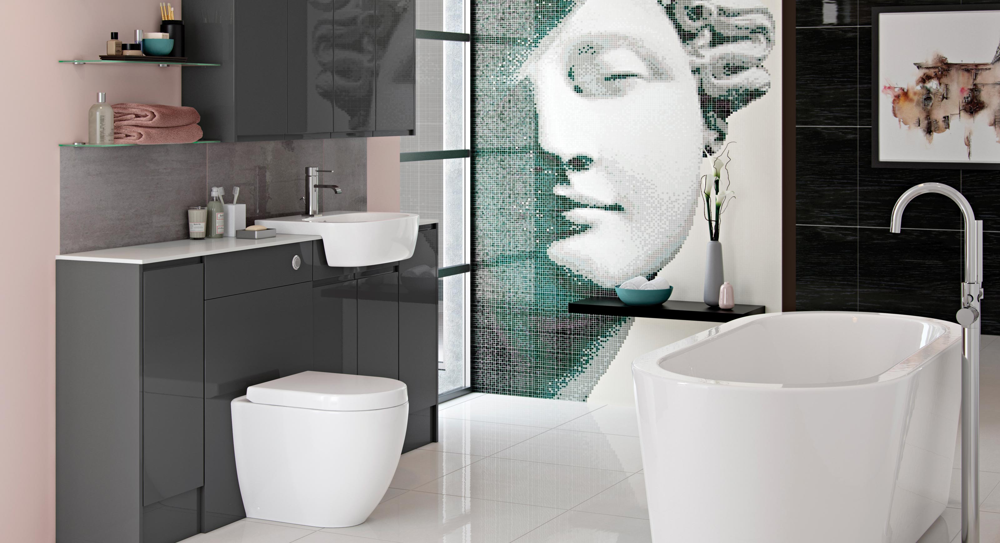 Bathrooms To Love Fresco Contemporary pertaining to measurements 3200 X 1740