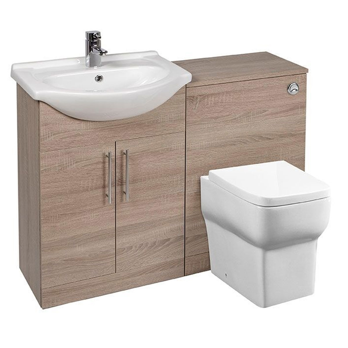 Bella Furniture Bathroom Combination Unit Suite With 500mm Wc Unit regarding proportions 1200 X 1200