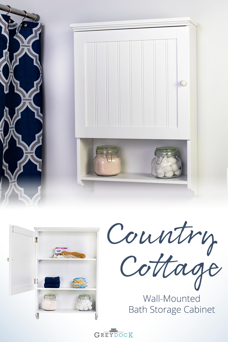 Bennington Country Cottage White Wall Mount Bathroom Medicine inside measurements 800 X 1200