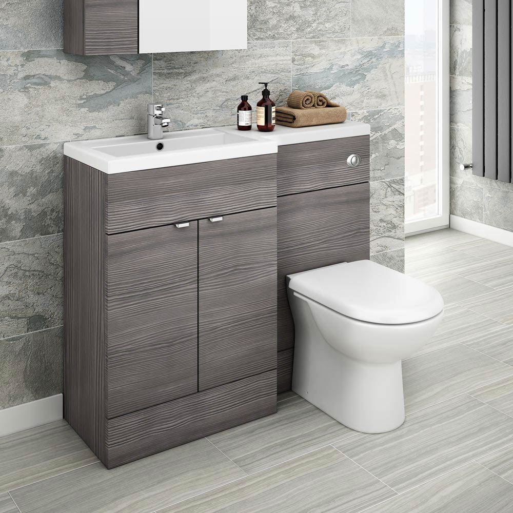 Brooklyn Grey Avola Combination Furniture Pack 1100mm Wide At with dimensions 1000 X 1000