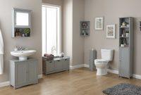 Colonial Grey Wood Bathroom Furniture Cupboards Cabinets Storage regarding measurements 2200 X 1372