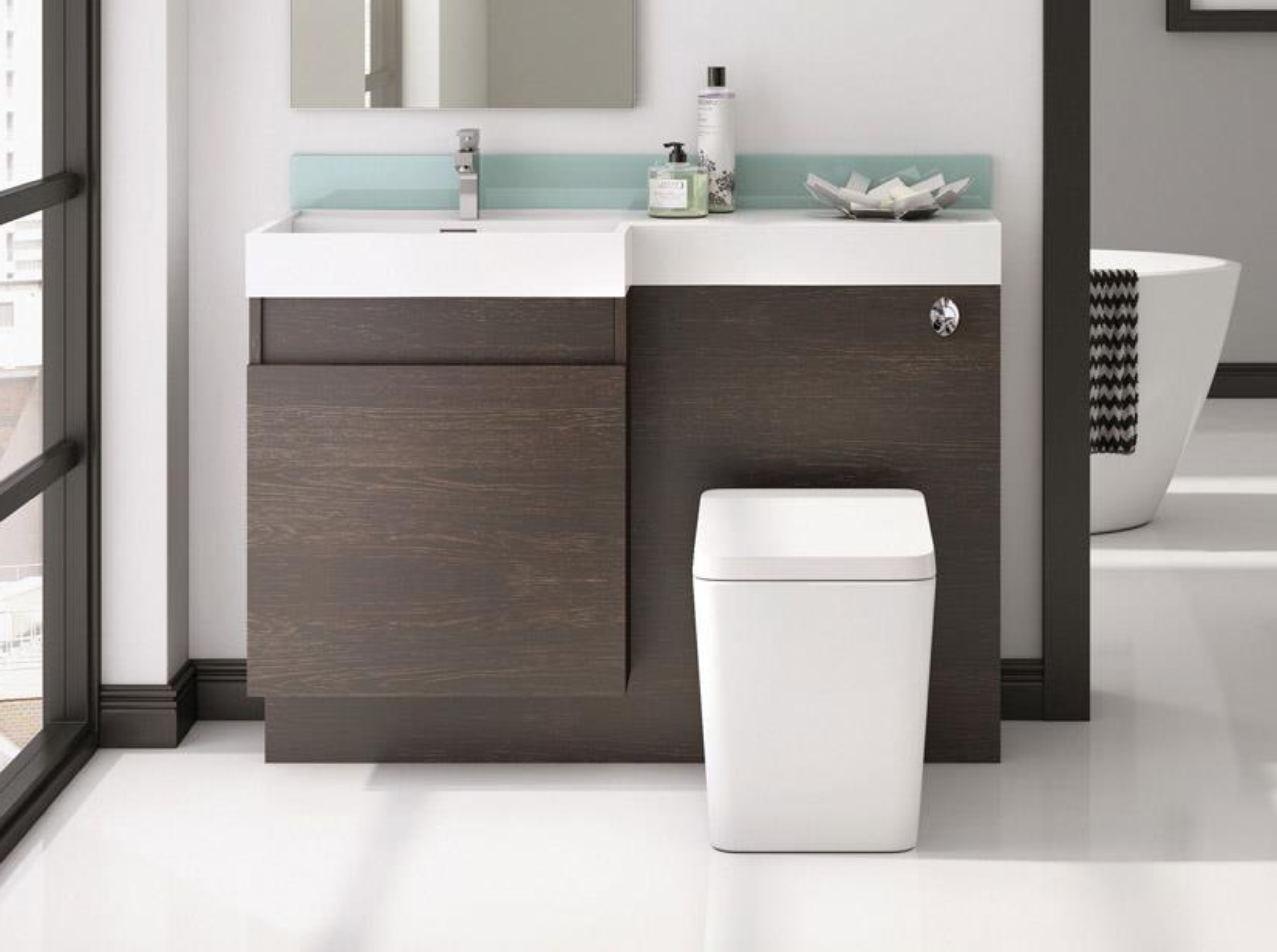 Combination Basin Wc Units for size 2581 X 1925