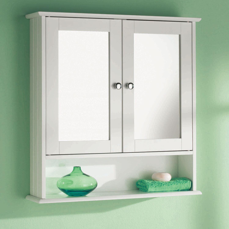 Double Door Mirror Shelf Wall Mounted Wood Storage Bathroom pertaining to measurements 1500 X 1500