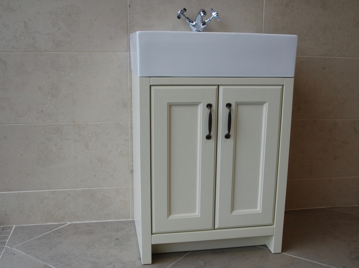 Edwardian Cream Painted Bathroom Furniture intended for dimensions 1200 X 896