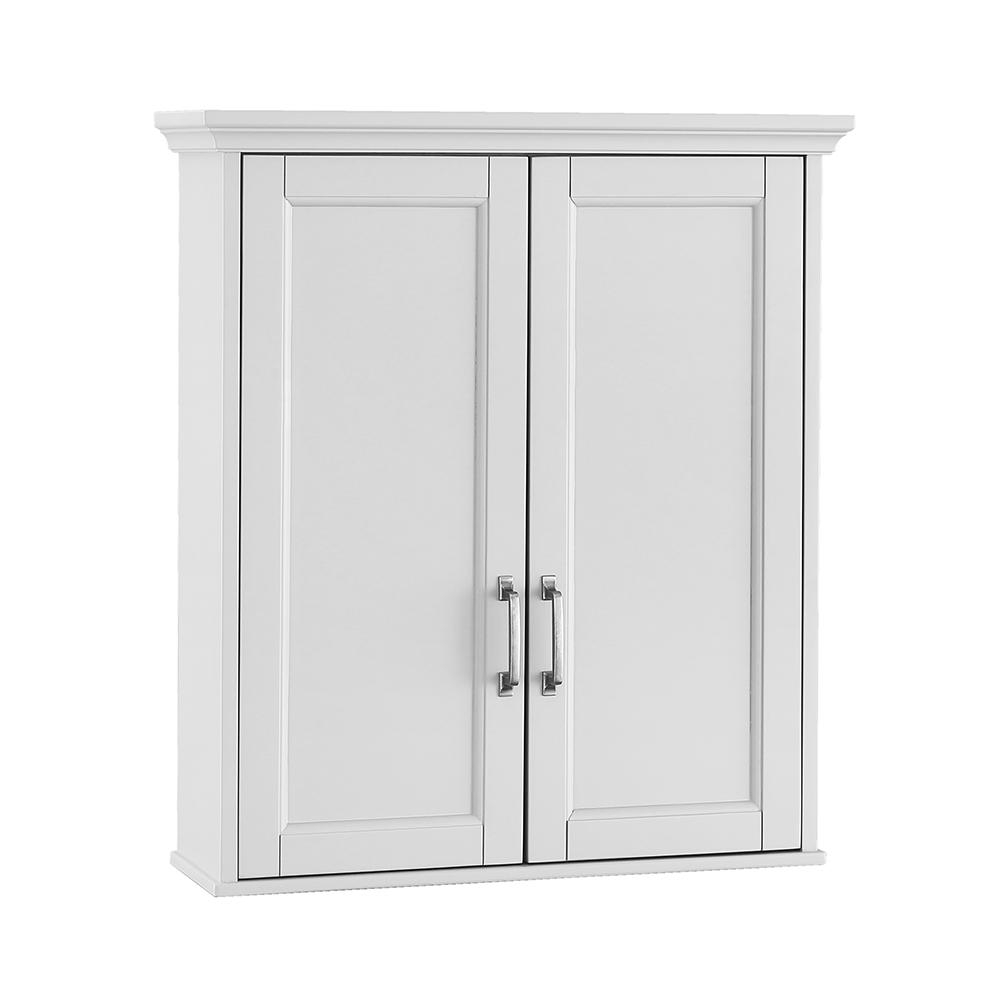 Home Decorators Collection Ashburn 23 12 In W X 27 In H X 8 In D Bathroom Storage Wall Cabinet In White for dimensions 1000 X 1000