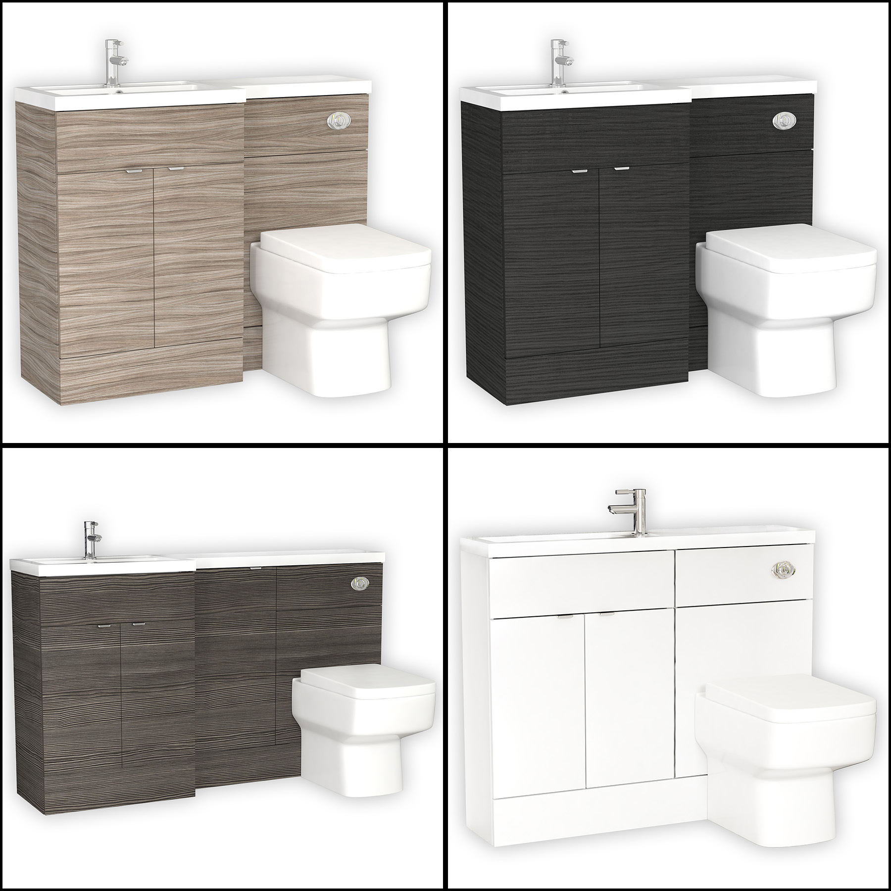 Hudson Reed Bathroom Furniture Packs Wc Vanity Unit With Basin And with regard to size 1800 X 1800