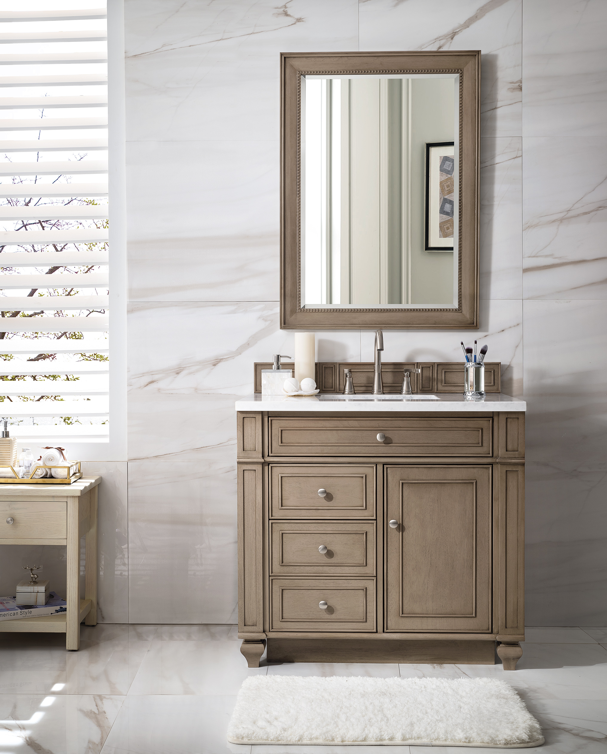 James Martin Furniture Bristol 36 Single Vanity White Washed Walnut regarding proportions 2032 X 2524