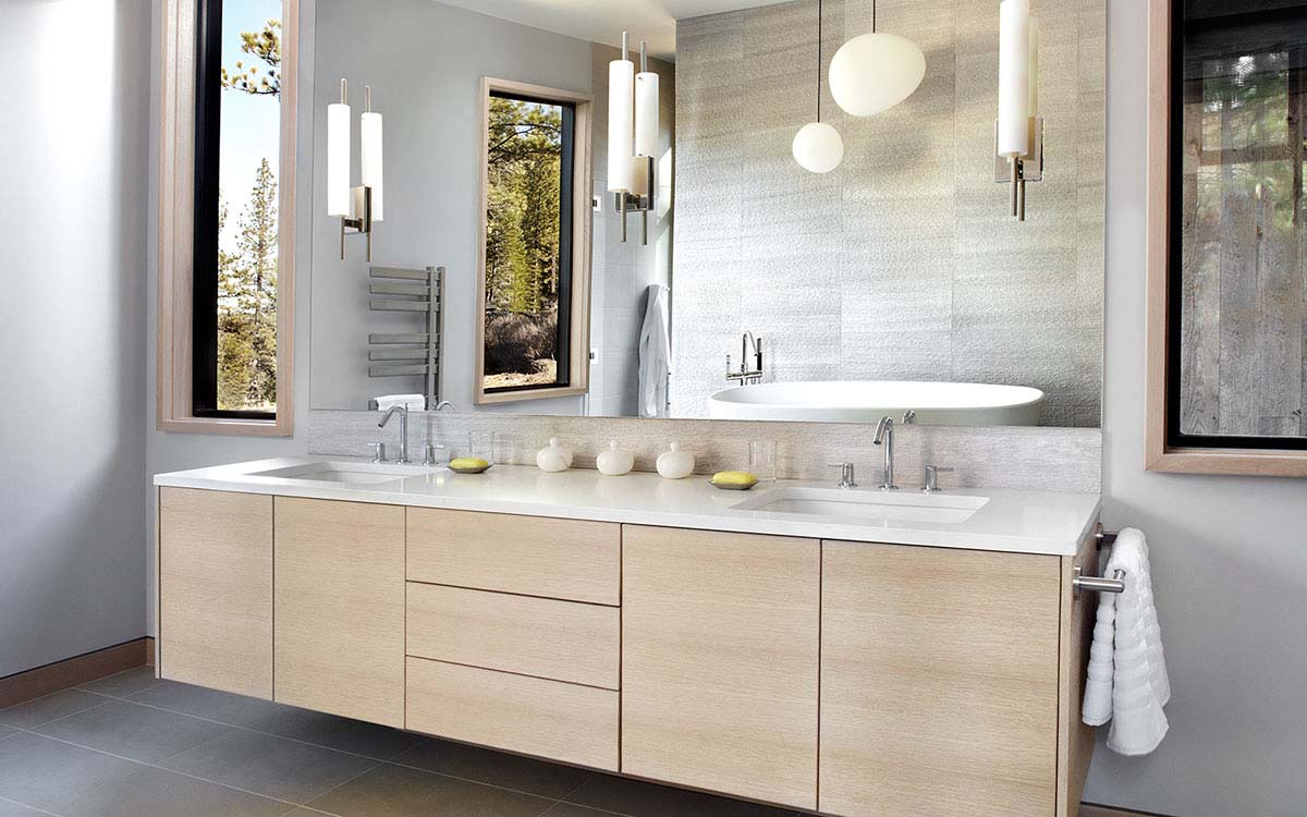 Modern Bathroom Cabinets In Bellingham And Seattle Contemporary inside sizing 1200 X 750