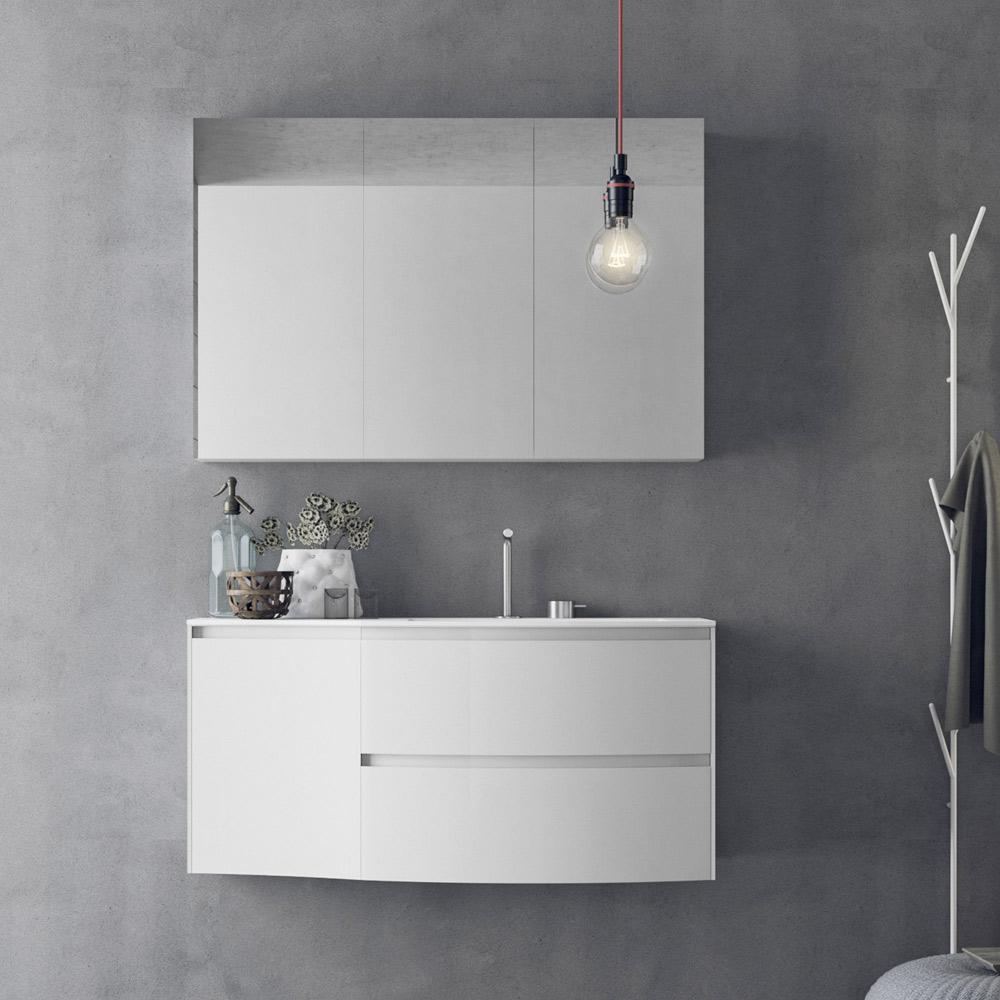 Modern Design Wall Mounted Bathroom Furniture Set Calix Novello pertaining to proportions 1000 X 1000