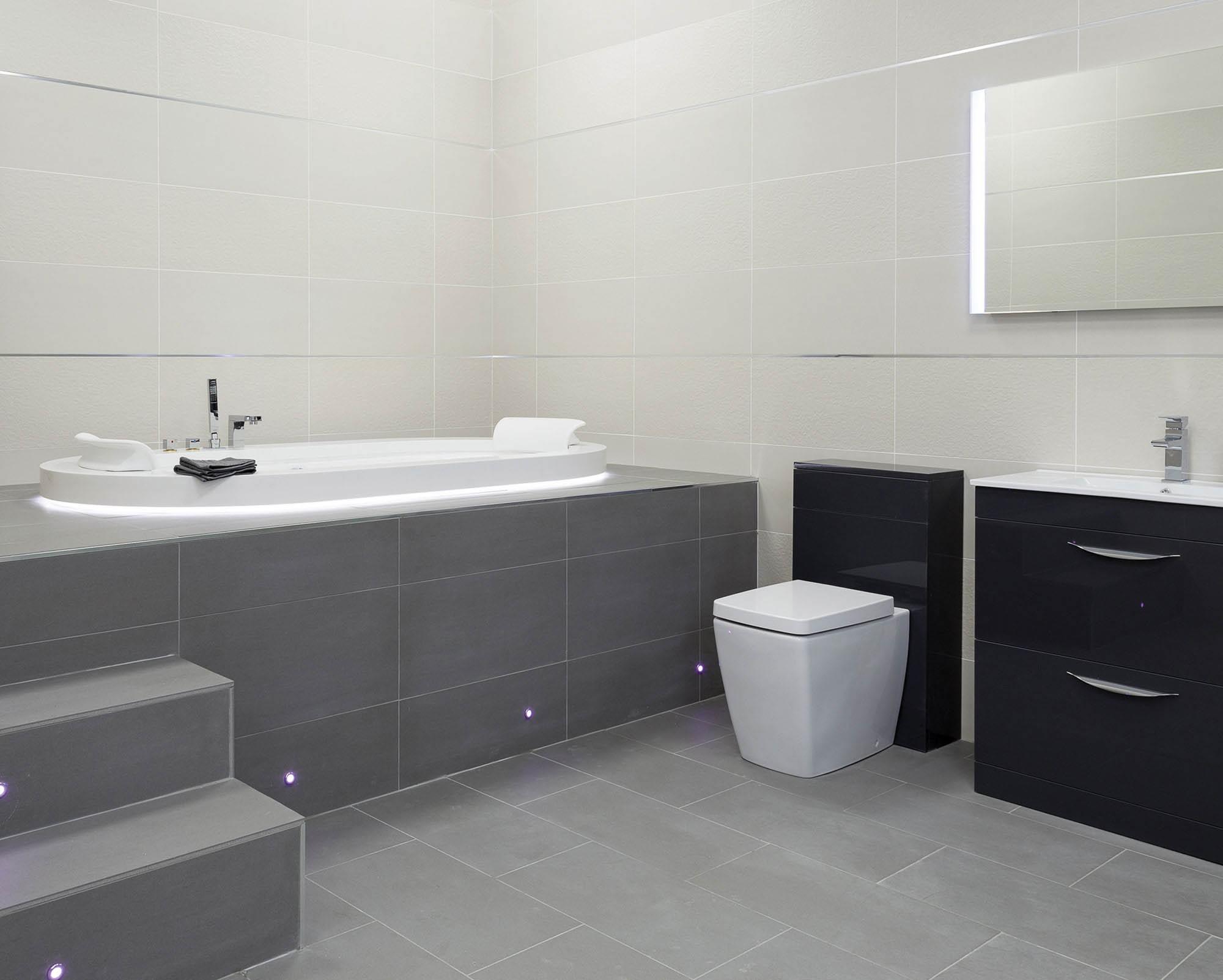Monarch Dark Grey Gloss Tile 600 X 600mm Easy Bathrooms for sizing 2000 X 1604