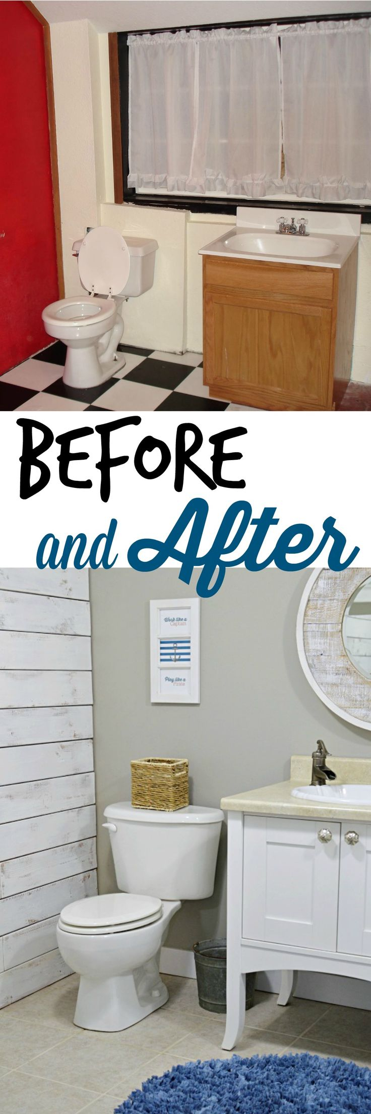 Nod To Nautical Bathroom Makeover Reveal Diy Projects Bathroom in measurements 736 X 2208