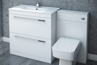 Nova High Gloss White Vanity Bathroom Suite W1300 X D400200mm At throughout measurements 1000 X 1000