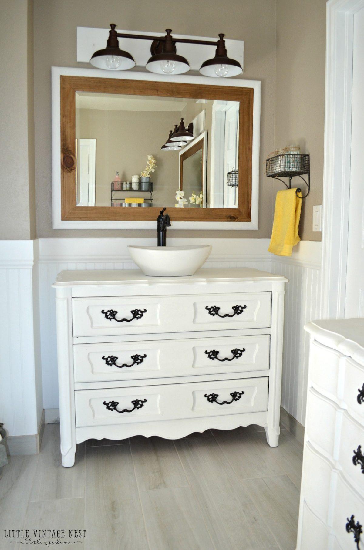 Old Dresser Turned Bathroom Vanity Tutorial for size 1200 X 1813