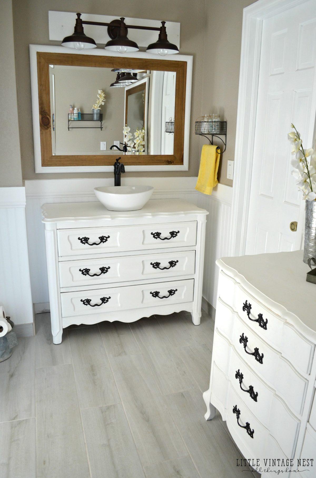 Old Dresser Turned Bathroom Vanity Tutorial inside dimensions 1200 X 1812