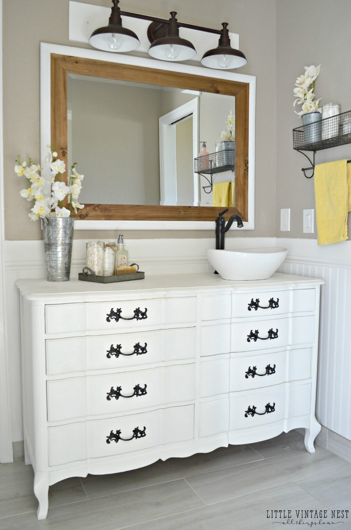 Old Dresser Turned Bathroom Vanity Tutorial within sizing 1200 X 1812