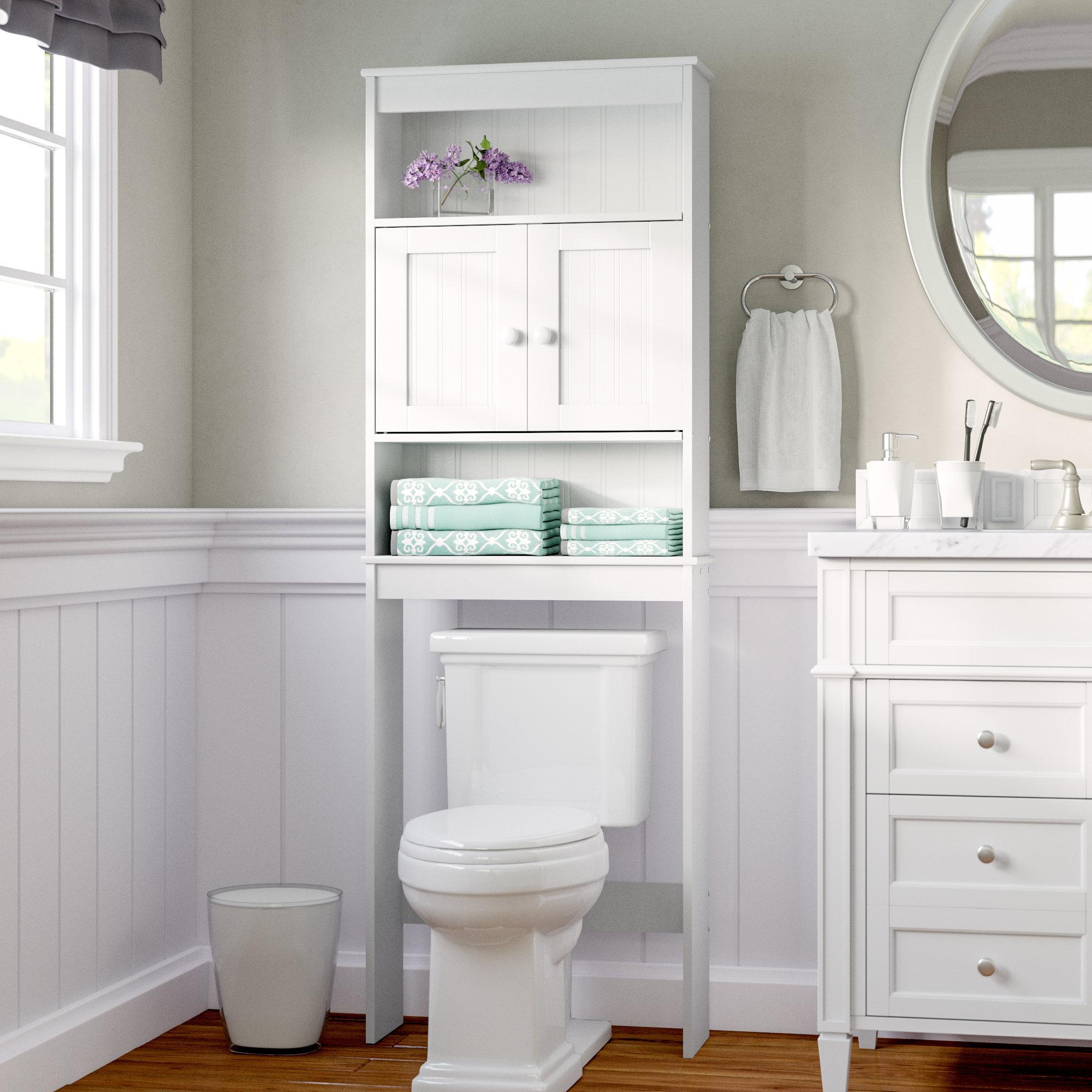 Rebrilliant 2325 W X 665 H Over The Toilet Storage Reviews regarding proportions 2000 X 2000