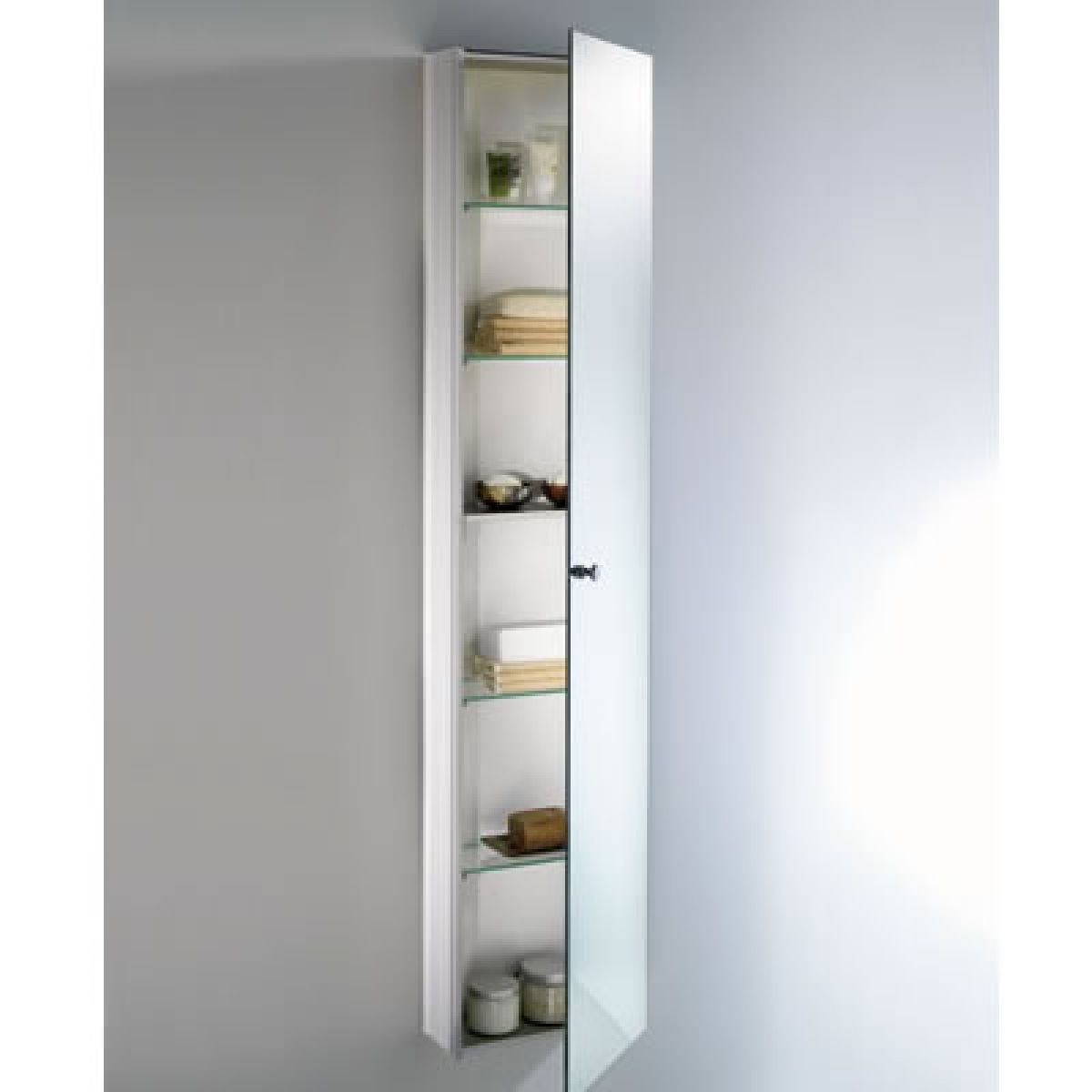 Schneider Wangaline 1 Door Tall Cabinet Uk Bathrooms intended for dimensions 1200 X 1200