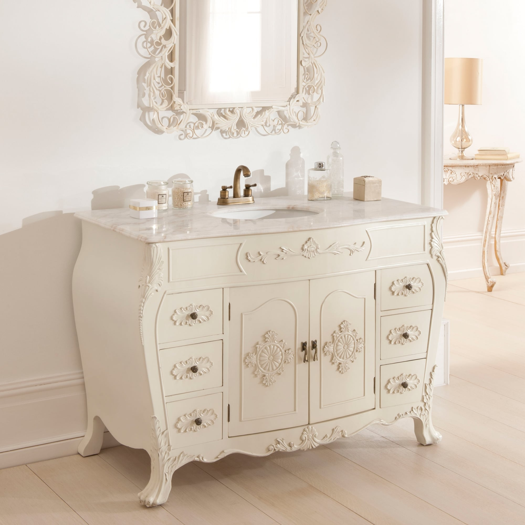 Shab Chic Bathroom Cabinet Furniture Antique French Vanity Unit inside proportions 2000 X 2000