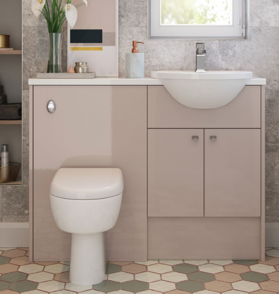 Slimline Cloakroom Fitted Furniture Available In All Door Styles regarding proportions 949 X 1000