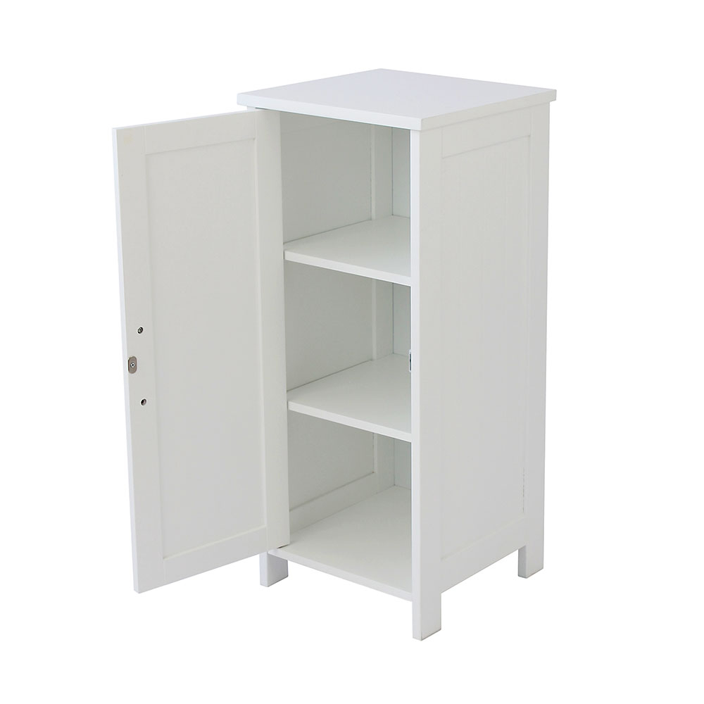 Storage Floor Cabinet White Bathroom Cupboard House Homestyle for size 1000 X 1000
