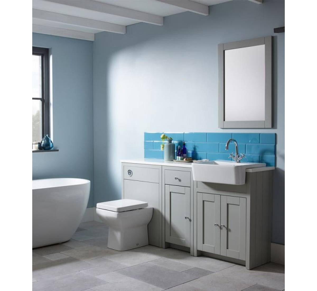 Tavistock Lansdown Fitted Furniture 5 Piece Bathroom Suite Matt Dark for proportions 1200 X 1100