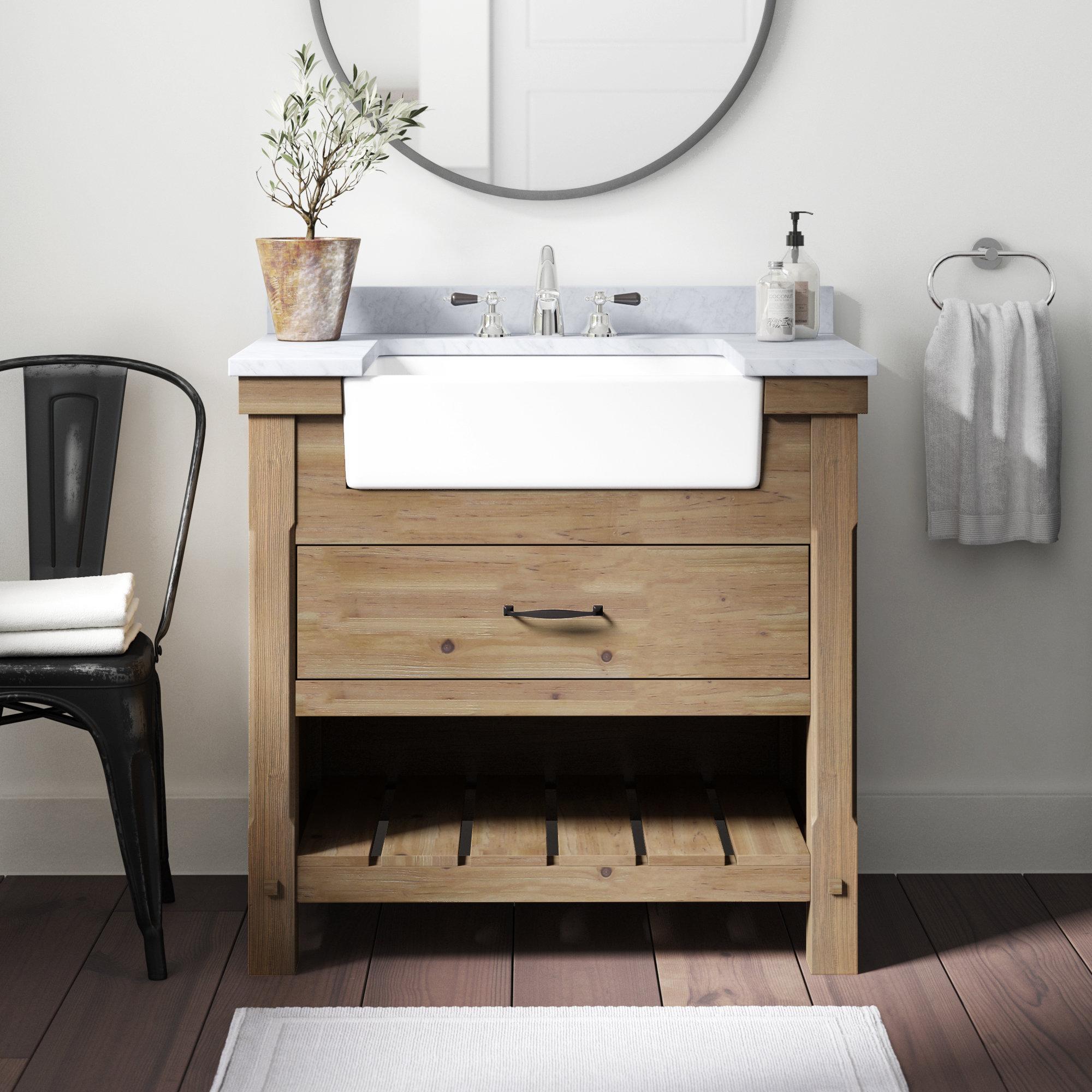 Three Posts Kordell 36 Single Bathroom Vanity Set Reviews Wayfair in dimensions 2000 X 2000