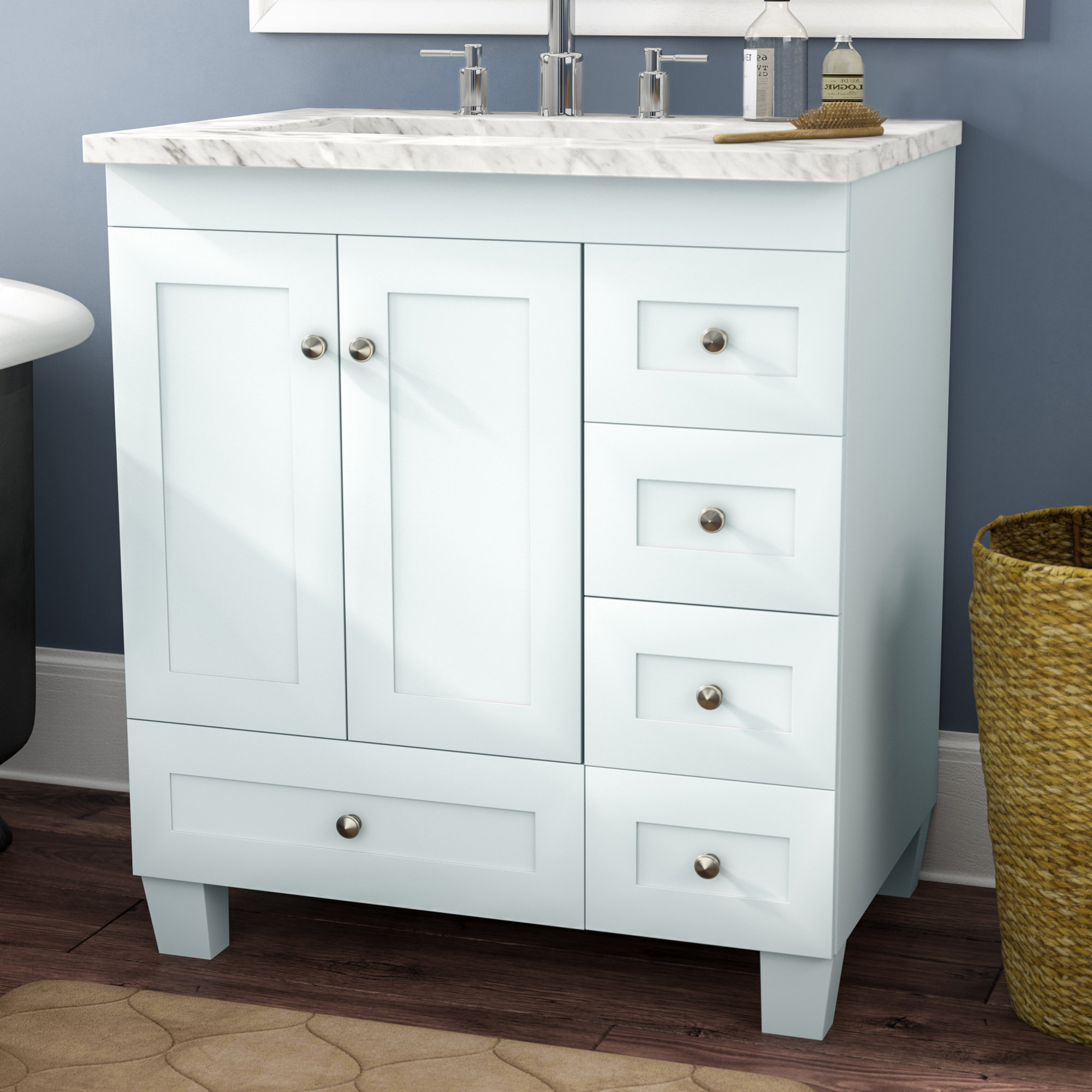 Three Posts Lauder 31 Single Bathroom Vanity Reviews Wayfair pertaining to size 2000 X 2000
