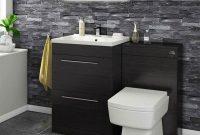 Vellamo Aspire 1100mm 2 Drawer Black Ash Combination Basin Toilet in proportions 1200 X 1200