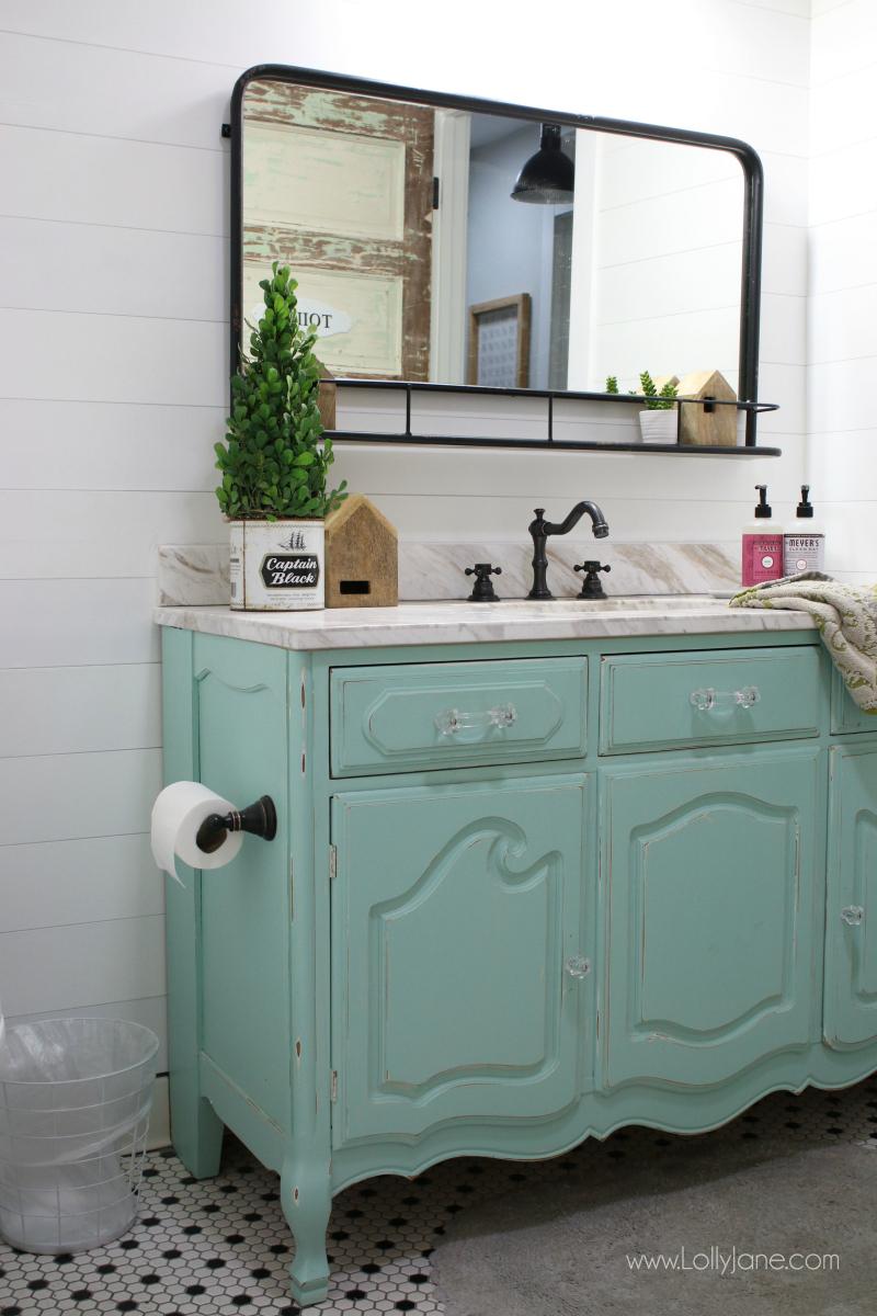 Vintage Dresser To Bathroom Vanity Lolly Jane in proportions 800 X 1200