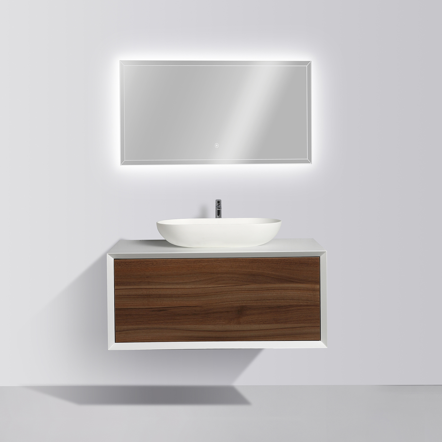 Wall Mounted Bathroom Furniture Set Fiona 900 Matte White Cabinet in proportions 1500 X 1500