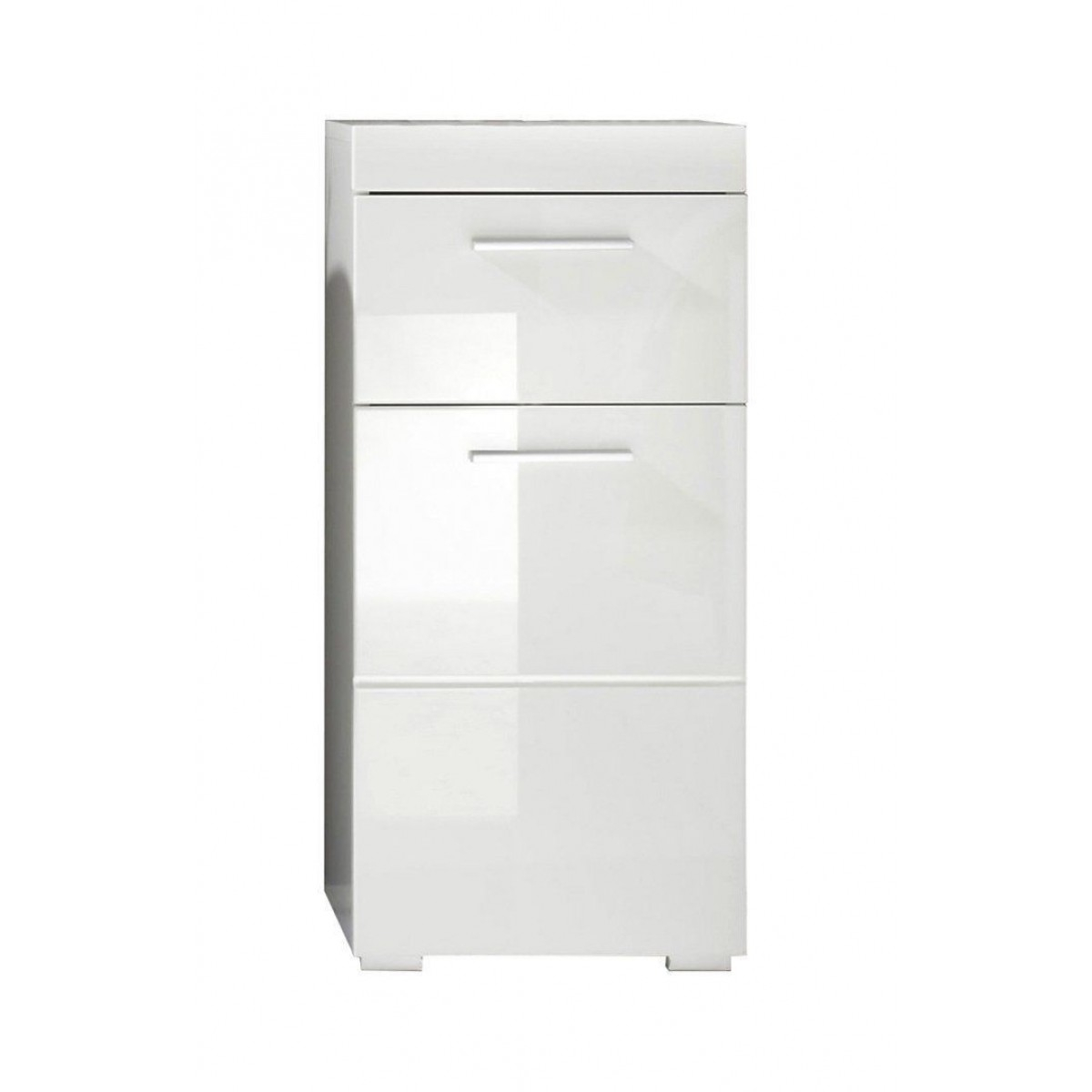 White High Gloss Free Standing Bathroom Storage Cabinet with regard to sizing 1200 X 1200